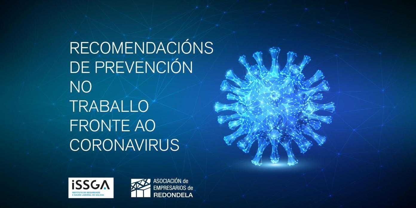RECOMENDACIÓN DE PREVENCIÓN NO TRABALLO FRONTE AO CORONAVIRUS